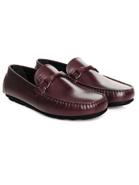 Burgundy Buckle Moccasins Leather Shoes alternate shoe image