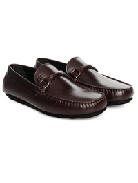 Brown Buckle Moccasins Leather Shoes alternate shoe image