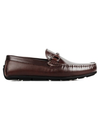 Brown Buckle Moccasins main shoe image