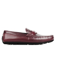 Burgundy Cross Strap Moccasins main shoe image