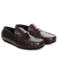 Brown Cross Strap Moccasins alternate shoe image
