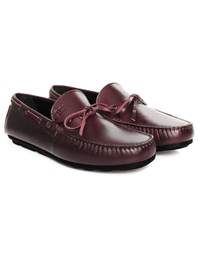 Burgundy Boat Moccasins Leather Shoes alternate shoe image