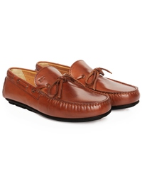 Tan Boat Moccasins Leather Shoes alternate shoe image