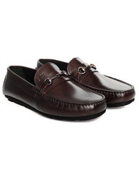 Brown Horsebit Moccasins Leather Shoes alternate shoe image