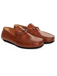 Tan Horsebit Moccasins Leather Shoes alternate shoe image