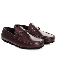 Burgundy Metalstrap Moccasins Leather Shoes alternate shoe image