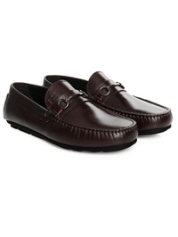 Brown Metalstrap Moccasins Leather Shoes alternate shoe image