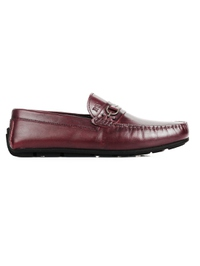Burgundy Saddle Buckle Moccasins main shoe image