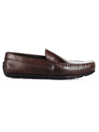 Brown Plain Apron Moccasins main shoe image