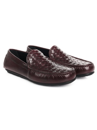 Burgundy Plain Apron Moccasins Leather Shoes alternate shoe image
