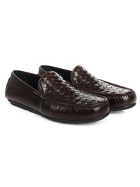 Brown Plain Apron Moccasins Leather Shoes alternate shoe image