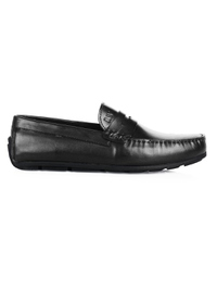 Black Penny Loafer Moccasins main shoe image