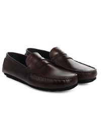 Brown Penny Loafer Moccasins alternate shoe image