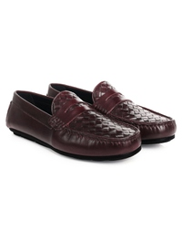 Burgundy Penny Loafer Moccasins alternate shoe image