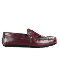 Burgundy Penny Loafer Moccasins main shoe image