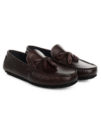 Brown Tassel Moccasins Leather Shoes alternate shoe image