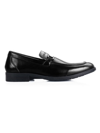 Black Side Buckle Slipon main shoe image