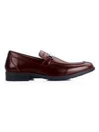 Burgundy Side Buckle Slipon main shoe image