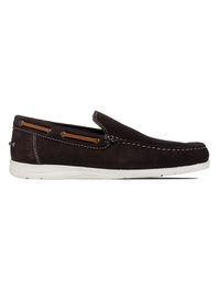 Brown Slipon Boat Leather Shoes main shoe image