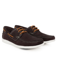 Brown Derby Boat Leather Shoes alternate shoe image