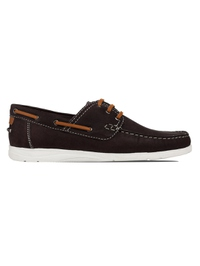 Brown Derby Boat Leather Shoes main shoe image