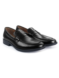 Black Apron Half Strap Leather Shoes alternate shoe image