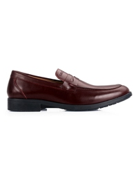 Burgundy Apron Half Strap Leather Shoes main shoe image
