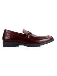 Burgundy Full Buckle Slipon main shoe image