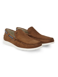 Tan Slipon Boat Leather Shoes alternate shoe image