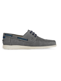 Gray Derby Boat Leather Shoes main shoe image