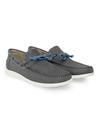 Gray Laced Boat Leather Shoes alternate shoe image