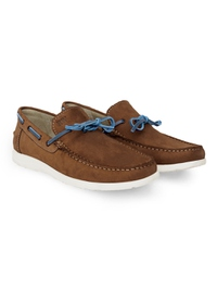 Tan Laced Boat Leather Shoes alternate shoe image