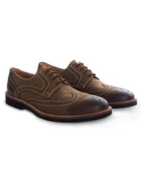 Coffee Brown Outdoor Full Brogue Leather Shoes alternate shoe image