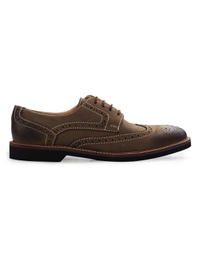 Coffee Brown Outdoor Full Brogue Leather Shoes main shoe image