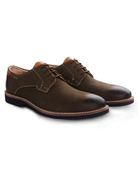 Brown Outdoor Plain Derby Leather Shoes alternate shoe image