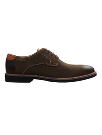 Brown Outdoor Plain Derby Leather Shoes main shoe image