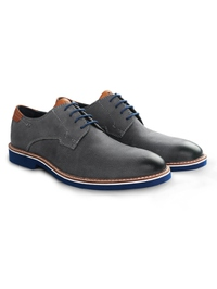 Gray Outdoor Plain Derby Leather Shoes alternate shoe image