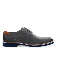 Gray Outdoor Plain Derby Leather Shoes main shoe image