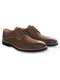 Coffee Brown Outdoor Plain Derby Leather Shoes alternate shoe image