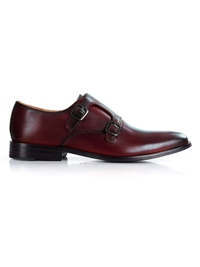 Oxblood Premium Double Strap Monk main shoe image