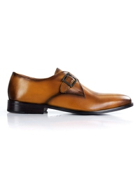 Yellow Premium Single Strap Monk shoe image
