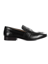 Black Premium Wingcap Slipon main shoe image
