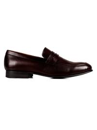 Dark Brown Premium Apron Halfstrap Slipon main shoe image