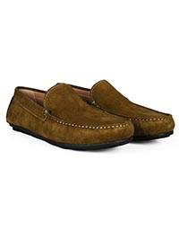 Lighttan Plain Apron Moccasins Leather Shoes alternate shoe image