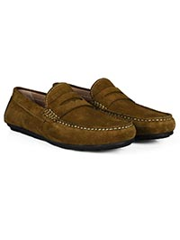 Lighttan Penny Loafer Moccasins Leather Shoes alternate shoe image