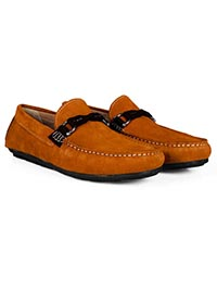 Tuscan Sun and Brown Buckle Moccasins Leather Shoes alternate shoe image