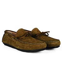 Lighttan Boat Moccasins Leather Shoes alternate shoe image