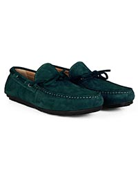 Sea Green Boat Moccasins Leather Shoes alternate shoe image