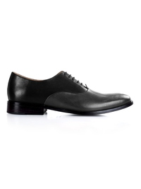 Black and Gray Premium Plain Oxford shoe image