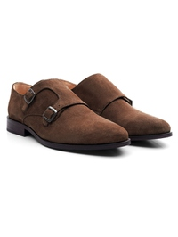 Brown Premium Double Strap Monk alternate shoe image
